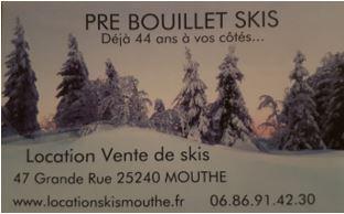 Pre Bouillet skis
